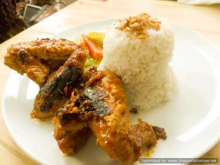 Barbeque Chicken Wings LOKO Cafe Surabaya. Harga 20k