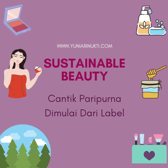 Sustainable Beauty dimulai dari Label