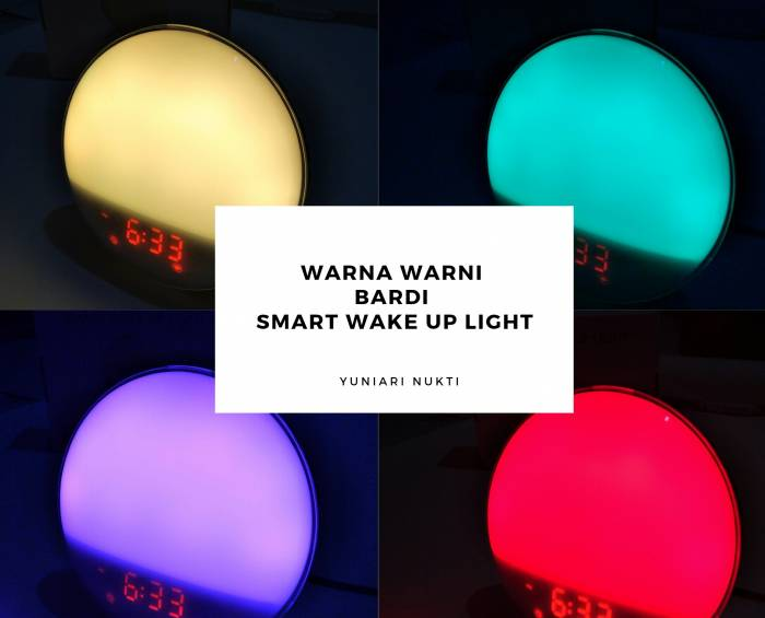 Warna Lampu Bardi Smart Wake Up Light